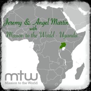 J&A MTW Uganda Map w logo
